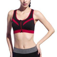 Racerback Front Zipper - Double Support Bra    https://zenyogahub.com/collections/yoga-bras/products/racer-back-front-zipper