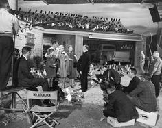 Photos sur des tournages de films #2 photo tournage coulisse cinema TheBirds 04 photo featured cinema 2 bonus