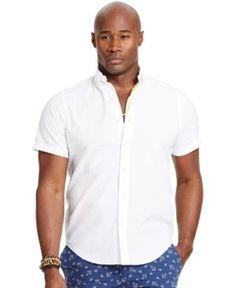 Polo Ralph Lauren Men's Big & Tall Check Seersucker Shirt - White 2LT