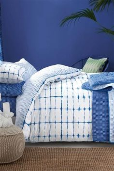 Buy 2 Pack Blue Tie Dye Bed Set from the Next UK online shop