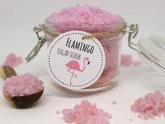 ♡♡♡ Das perfekte Geschenk zum Valentinstag: DIY Sugar Scrub Flamingo selber machen + Video! {mit gratis Printable} ♡♡♡