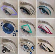 """History of eye makeup """"Eye care"""", put simply, """"eye make-up"""" has long been a subject Unique Makeup, Cute Makeup, Gorgeous Makeup, Graphic Makeup, Graphic Eyeliner, Makeup Goals, Makeup Inspo, Makeup Inspiration, Makeup Ideas"""