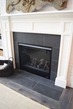 Get this tile for your fireplace! | RiteRug Flooring | Fireplace Ideas | Tile Fireplace | Home Decor Ideas