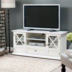 50 Cool TV Stand Designs for Your Home tv stand ideas diy, tv stand ideas for living room, tv stand ideas bedroom, tv stand ideas black, tv . Design Stand, Tv Stand Designs, White Tv Stands, Cool Tv Stands, Living Room Tv, Living Room Furniture, Tv Furniture, Furniture Storage, Cheap Furniture