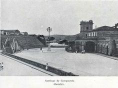 Estación del tren Santiago de Compostela. Louvre, Building, Travel, Cities, Santiago De Compostela, Camino De Santiago, Historia, Old Photography, Parking Lot
