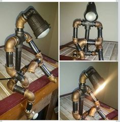 Hey, I found this really awesome Etsy listing at https://www.etsy.com/listing/242226474/the-thinker-robot-light-modern