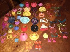Littlest Pet Shop Lot Accessories Dress Up Hats Glasses Shoes Clothes Lot Of 68 | eBay