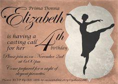 Vintage Prima Donna Ballerina Birthday Party by susieandme on Etsy, $8.00