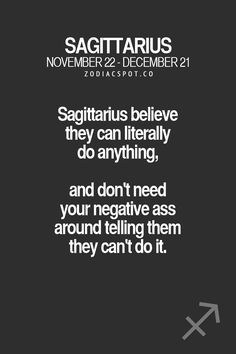 Your all-in-one source for Astrology — zodiacspot: Read more about your Zodiac sign. Sagittarius Quotes, Zodiac Signs Sagittarius, Sagittarius And Capricorn, Zodiac Horoscope, My Zodiac Sign, Zodiac Quotes, Zodiac Facts, Quotes Quotes, Hair Quotes