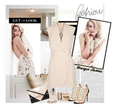 """""""Margot Robbie"""" by polybaby ❤ liked on Polyvore featuring Hermès, Finders Keepers, Bobbi Brown Cosmetics, Christian Louboutin, Lipsy, Valentino, Marc Jacobs and GetTheLook"""