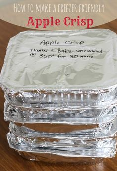 Freezer Friendly Apple Crisp- The perfect fall dessert!