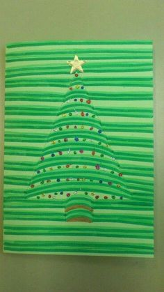 3D Illusion Christmas Card Arts and Craft Idea.