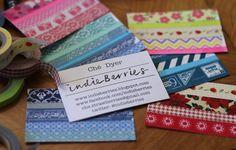 DIY makeshift business cards - indieberries.blogspot.com