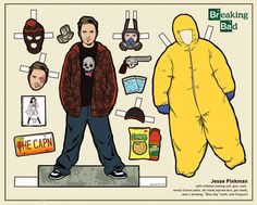Breaking Bad Paper Dolls - Jesse Pinkman (by Kyle Hilton)