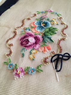 Vintage Bucilla Needlepoint Preworked by TheLittleThingsVin, $23.00