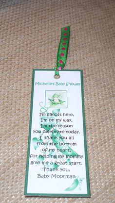 Baby Shower  Book Mark
