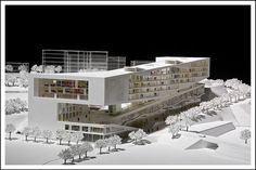 Integrated Teaching Building in Chinese University of Hong Kong 2007 Library Architecture, Landscape Architecture, Interior Architecture, Open Space Architecture, Architecture Concept Diagram, 3d Modelle, Arch Model, Social Housing, Urban Design