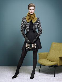 Paule Ka. (Skirt is kinda too short) But love the style... minus the fur around the neck.