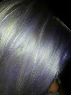 White & Lilac Hair