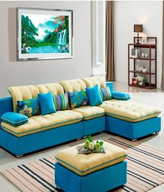Sofa Factory Stylish Light Blue L Shape Sofa, http://www.snapdeal.com/product/sofa-factory-stylish-light-blue/1222231927