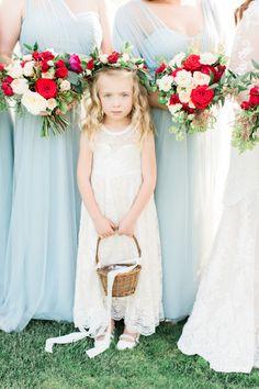 Romantic flower girl: http://www.stylemepretty.com/2017/04/14/romantic-french-inspired-garden-wedding/# Photography: Koman - http://komanphotography.com/