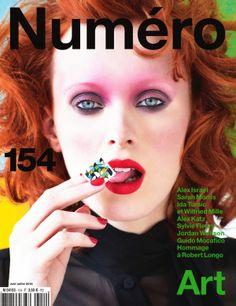 visual optimism; fashion editorials, shows, campaigns & more!: sarah morris: karen elson by victor demarchelier for numéro #154 june/july 20...