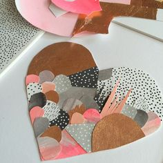 A little papery heart made a few weeks ago for a couple of cute + happy loved up lovers
