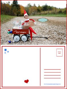 Elf on The Shelf - Postcard sent from North Pole....