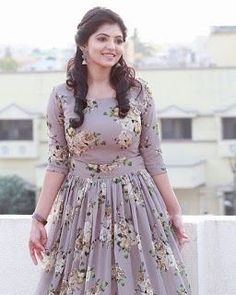 Telugu Cute Actress Athulya Ravi Beautiful Images In Traditional Wear Party Wear Maxi Dresses, Gown Party Wear, Casual Dresses, Long Gown Dress, Frock Dress, Chiffon Maxi Dress, Frock Fashion, Fashion Dresses, Fashion Clothes