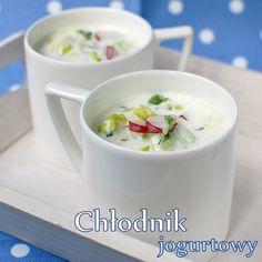 błyskawiczny chłodnik jogurtowy Polish Recipes, Polish Food, Kefir, Grilling, Recipies, Gluten Free, Healthy Recipes, Cooking, Tableware