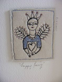 Embroidery artwork  Crowned and Happy Fairy por The7thMagpie, £22.00