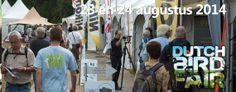 """Dutch Bird Fair het grootste openlucht natuurfestival in Nederland. Het festival is ondanks haar naam breder opgezet dan """"birds"""" alleen, het gaat twee dagen lang over natuurbeleving in de meest brede zin van het woord. Op de mooist denkbare locatie in Nederland; de Oostvaardersplassen! Op 23 en 24 augustus 2014."""