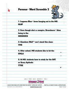 Worksheets Free Monster High Printable Activities 1000 images about monster high printables on pinterest activity book printable 17 jpg
