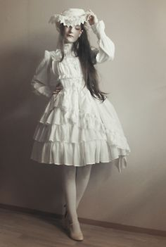 """""""some white"""" Shiro Lolita, one of my fave kinds."""