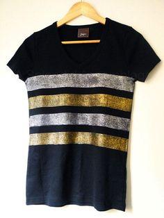 DIY Clothes DIY Refashion DIY Clothes Refashion: DIY Glitter Striped Top