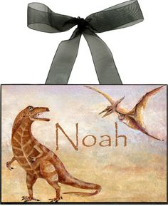 dinosaur personalized wall plaque - Bedroom Wall Plaques