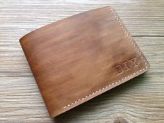 Billfold wallet with vintage light coffee color by LeatherTaste