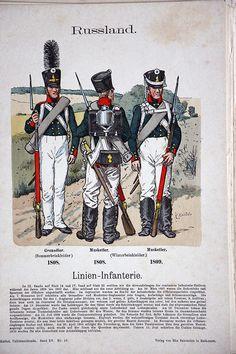 Russland 1808 – Uniformenkunde – Richard Knötel – XV – Planche 19 | Soldaademohler