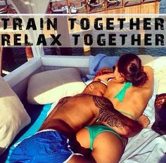 Fit couple relaxing
