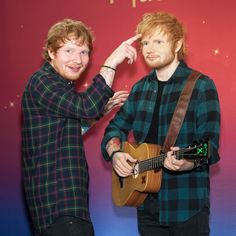 Ed Sheeran Is Glad That His Wax Figure Has a Bulge: Photo Ed Sheeran poses with his wax figure during the unveiling held at Madame Tussauds on Thursday afternoon (May in New York City. The singer posted… Edward Christopher Sheeran, Teddy Photos, Ed Sheeran Love, Cute Ginger, Ginger Head, Wax Museum, Madame Tussauds, Celebrity Photos, Best Friends