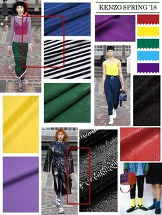 #catwalk #runway #trend #inspiration #fashion #fashiondesigner #fashionshow #collection #womensfashion #mensfashion #spring18 #resort18 #spring #summer #SS #kenzo #colorblock #stripes #valentino #coat #lavin #jersey #seersucker #suit #hermes #streetstyle #suede #materialsourcing #trendalert #leather #suit  #fabrics #romantic #dress #ThomBrowne