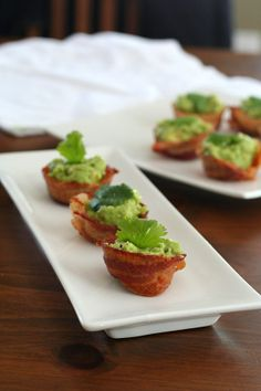 Mini Bacon Guacamole Cups -=- Perfect for Every Party, Every Day to Treat Our Taste Buds !!