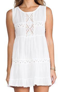 Jen's Pirate Booty Cotton Happy Babydoll Dress in White | REVOLVE