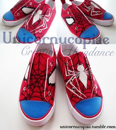Spiderman Shoes NZ$30  These New Zealand size 9 boys' canvas shoes have been painted with acrylic paints and sealed to be water resistant (w...