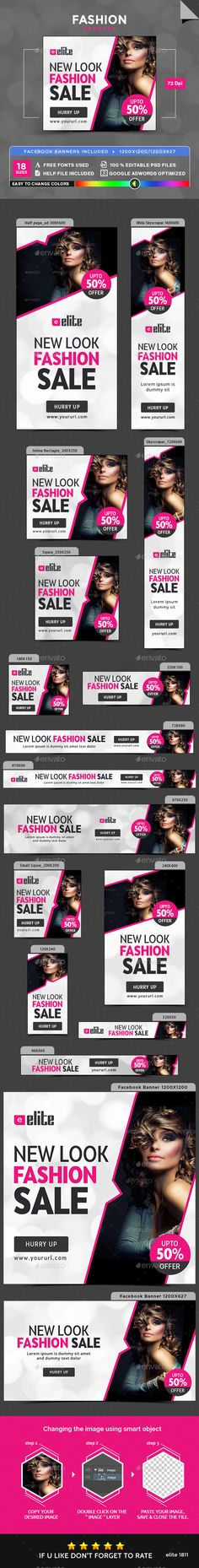 Fashion Banners — Photoshop PSD #coupon #business • Available here → https://graphicriver.net/item/fashion-banners/17907896?ref=pxcr
