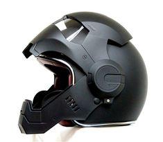 Masei 610 Iron Man Motorcycle Helmet Matt Black
