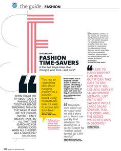 Real Simple Magazine.