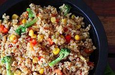 The Daniel Fast - stir fry vegetables with brown rice {clean eating} fast diet liquid Healthy Dinner Recipes, Vegetarian Recipes, Cooking Recipes, Cooking Rice, Cooking Bacon, Diet Recipes, Cooking Games, Cooking Steak, Cooking Turkey