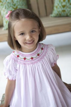 Bishop Dress - Petite Strawberries. I love the pink, not so sold on the strawberries...but it is cute!