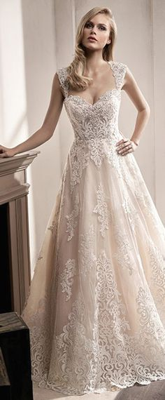 Amazing Tulle Sweetheart Neckline A-Line Wedding Dress With Lace Appliques & Beadings